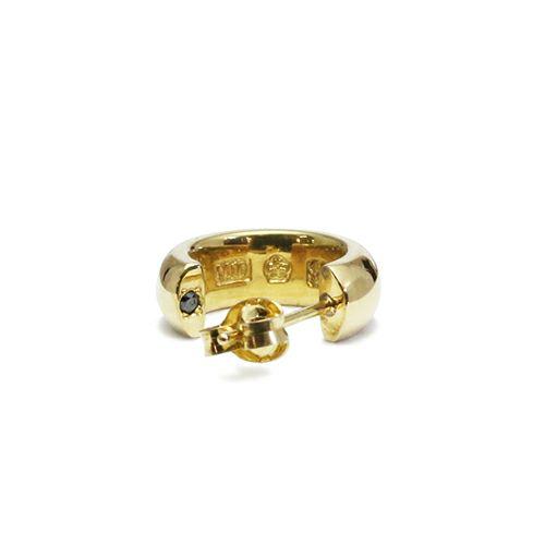 ラウンドダイヤモンドピアス -GOLD- / 片耳