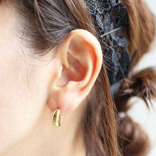 ピアス / ラウンドダイヤモンドピアス -GOLD- メンズ レディース ゴールド 片耳 シンプル 人気 おすすめ ブランド プレゼント 誕生日 ギフト