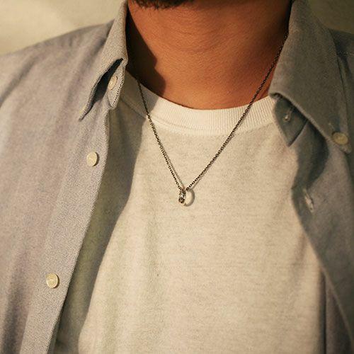 ネックレス / ラウンドダイヤモンドネックレス TYPE2 -SILVER- メンズ レディース ペア シルバー 人気 ブランド おすすめ ギフト プレゼント 誕生日 シンプル