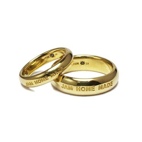 【JAM HOME MADE(ジャムホームメイド)】ラウンドダイヤモンドリング M -GOLD- / 指輪 メンズ レディース シルバー ダイヤモンド ペア 人気 おすすめ ブランド ギフト プレゼント クリスマス 記念日 誕生日