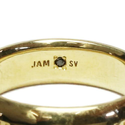 【JAM HOME MADE(ジャムホームメイド)】ラウンドダイヤモンドリング S -GOLD- / 指輪 メンズ レディース シルバー ダイヤモンド ペア 人気 おすすめ ブランド ギフト プレゼント クリスマス 記念日 誕生日