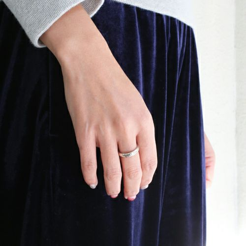 【JAM HOME MADE(ジャムホームメイド)】ラウンドダイヤモンドリング S -SILVR- / 指輪 メンズ レディース シルバー ダイヤモンド ペア 人気 おすすめ ブランド ギフト プレゼント クリスマス 記念日 誕生日