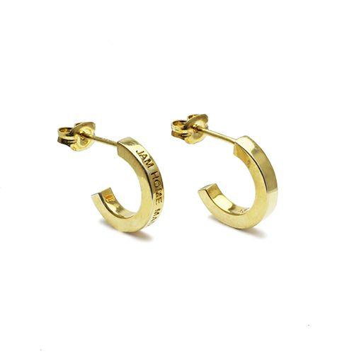 フラットダブルダイヤモンドピアス -GOLD- / 両耳