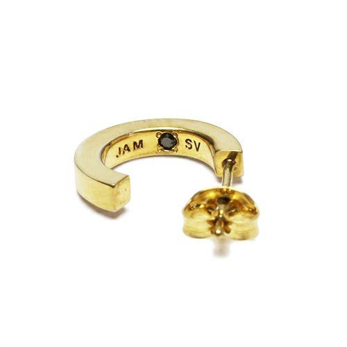 【JAM HOME MADE(ジャムホームメイド)】フラットダブルダイヤモンドピアス -GOLD- メンズ レディース ゴールド 両耳 シンプル 人気 おすすめ ブランド プレゼント 誕生日 ギフト