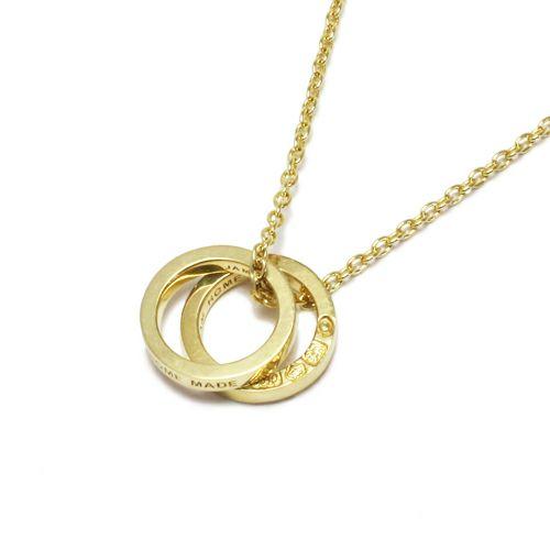 フラットダブルダイヤモンドネックレス -GOLD-