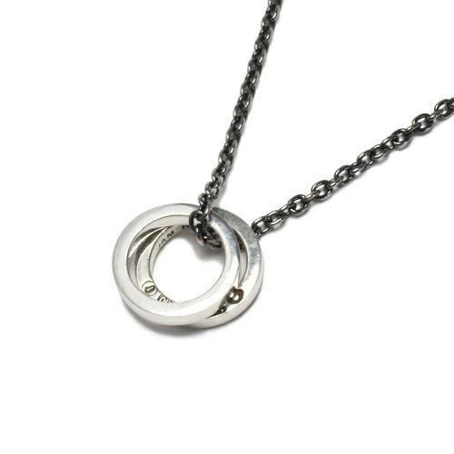 フラットダブルダイヤモンドネックレス -SILVER-