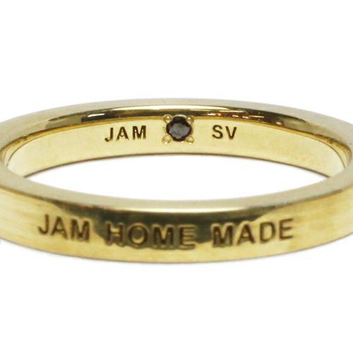 【ジャムホームメイド(JAMHOMEMADE)】フラット ダブル ダイヤモンド リング M - ゴールド / 指輪