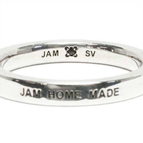 【JAM HOME MADE(ジャムホームメイド)】フラットダブルダイヤモンドリング M -SILVER- / 指輪 メンズ レディース シルバー ダイヤモンド 平打ち 2連 ペア 人気 おすすめ ブランド ギフト プレゼント クリスマス 記念日 誕生日