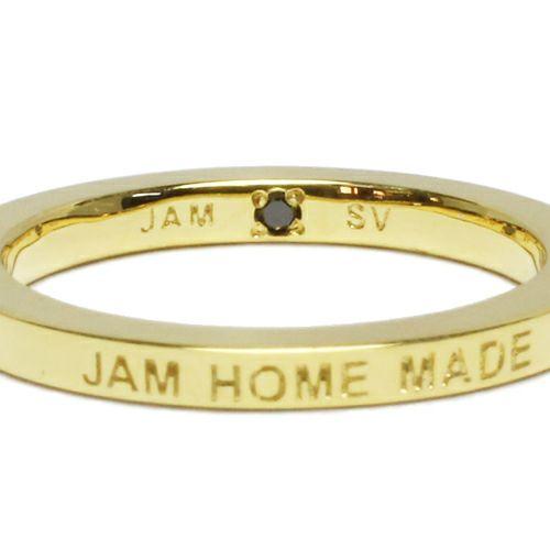【ジャムホームメイド(JAMHOMEMADE)】フラット ダブル ダイヤモンド リング S - ゴールド / 指輪