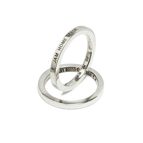 【ジャムホームメイド(JAMHOMEMADE)】フラット ダブル ダイヤモンド リング S - シルバー / 指輪