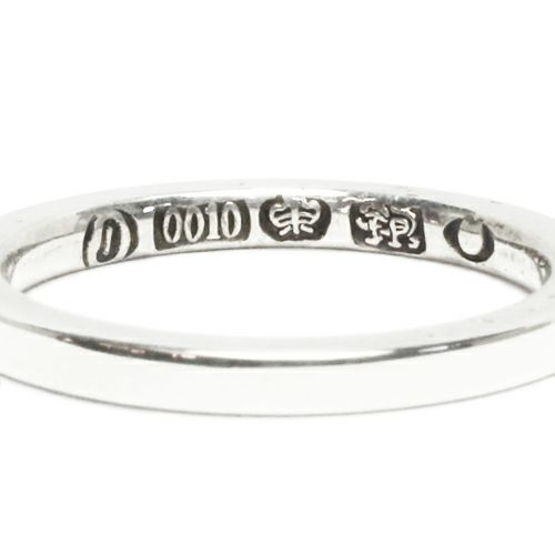 フラットダブルダイヤモンドリング S -SILVER- / 指輪