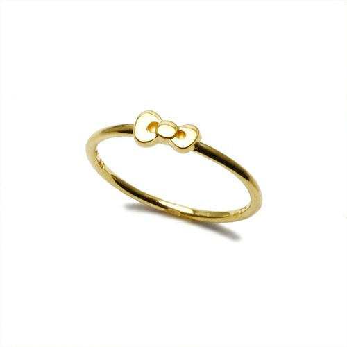 【JAM HOME MADE(ジャムホームメイド)】ハローキティ/Hello Kitty リボンリング / 指輪 レディース ゴールド 人気 おすすめ ブランド コラボ ギフト プレゼント クリスマス 記念日 誕生日