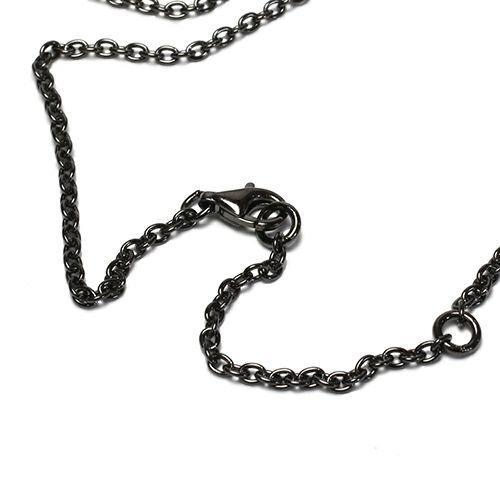 ネックレス / PMAネックレス -BLACK- メンズ シルバー SV925 ブラック 人気 ブランド おすすめ ギフト プレゼント 誕生日 シンプル プレート 刻印