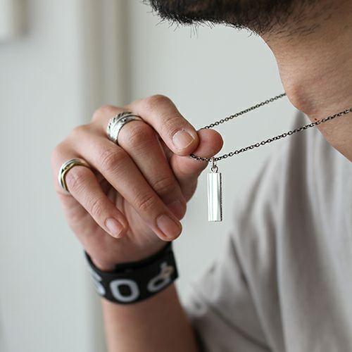ネックレス / PMAネックレス -SILVER- メンズ シルバー SV925 ブラック 人気 ブランド おすすめ ギフト プレゼント 誕生日 シンプル プレート 刻印