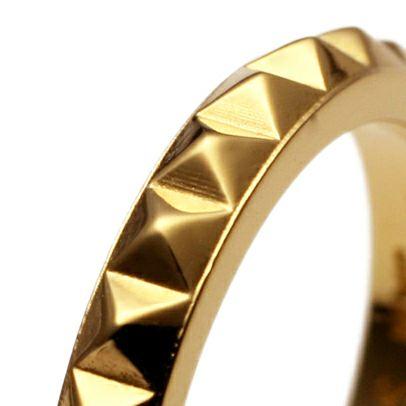 スタッズダブルリング S -GOLD- / 指輪