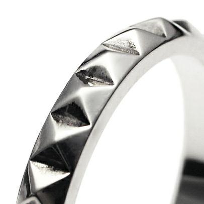指輪 / スタッズダブルリング S -SILVER- メンズ レディース シルバー ダイヤモンド 平打ち 2連 ペア 人気 おすすめ ブランド ギフト プレゼント クリスマス 記念日 誕生日