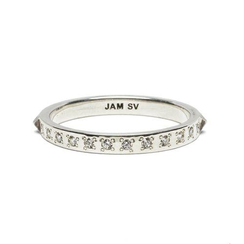【ジャムホームメイド(JAMHOMEMADE)】スタッズ シングル リング M - シルバー / 指輪