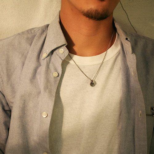 【ジャムホームメイド(JAMHOMEMADE)】4月 誕生石 ベビー カレッジリング ネックレス