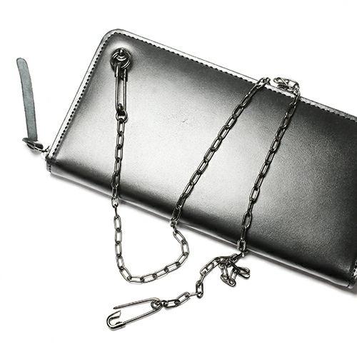 【JAM HOME MADE(ジャムホームメイド)】セーフティピンダイヤモンドウォレットチェーン M -BLACK- メンズ シルバー 人気 おすすめ ブランド 財布 チェーン シンプル