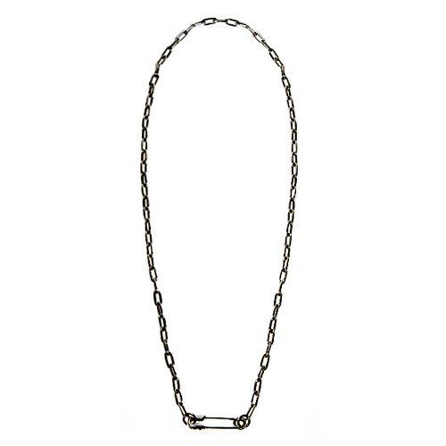 ネックレス / セーフティピン長アズキチェーンダイヤモンドネックレス M -BLACK- メンズ レディース ペア シルバー 925 人気 ブランド おすすめ ギフト プレゼント 誕生日 シンプル チェーン