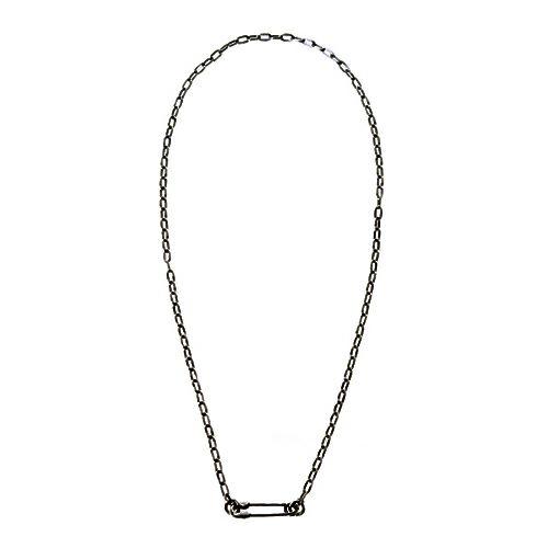 安全ピン(セーフティピン)長アズキチェーンダイヤモンドネックレス S -BLACK- / ネックレス