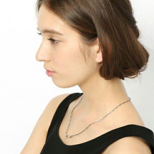 ネックレス / セーフティピン長アズキチェーンダイヤモンドネックレス S -BLACK- メンズ レディース ペア シルバー 925 人気 ブランド おすすめ ギフト プレゼント 誕生日 シンプル チェーン