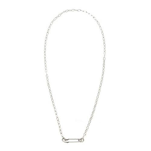 安全ピン(セーフティピン)長アズキチェーンダイヤモンドネックレス S -SILVER- / ネックレス