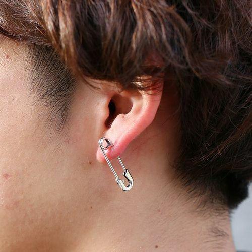 ピアス / セーフティピンダイヤモンドピアス M -SILVER- メンズ レディース シルバー 925 安全ピン 片耳 シンプル 人気 おすすめ ブランド プレゼント 誕生日 ギフト