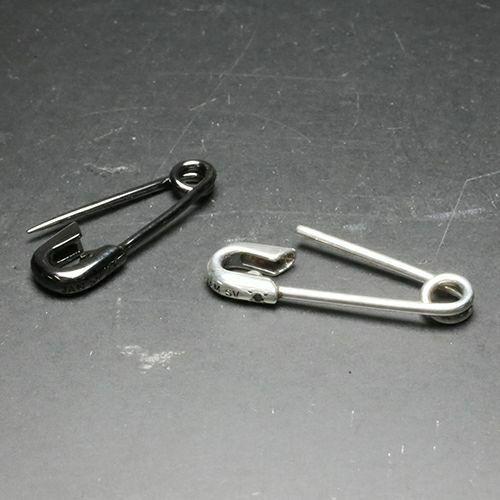 安全ピン(セーフティピン)ダイヤモンドピアス S -BLACK- / 片耳 / ピアス・イヤーカフ