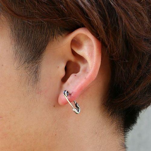 ピアス / セーフティピンダイヤモンドピアス S -SILVER- メンズ レディース シルバー 925 安全ピン 片耳 シンプル 人気 おすすめ ブランド プレゼント 誕生日 ギフト