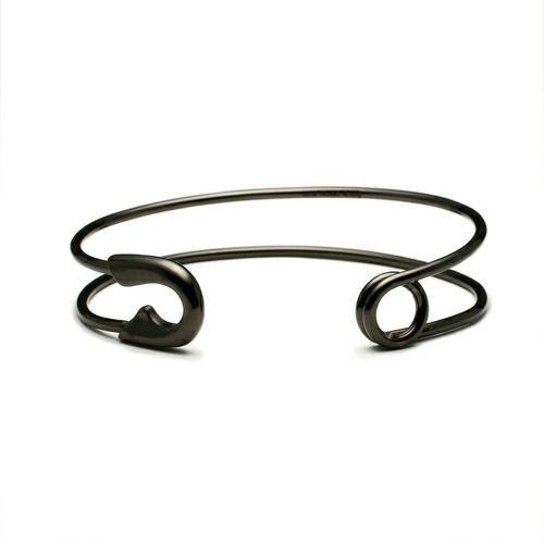 【JAM HOME MADE(ジャムホームメイド)】セーフティピンバングル -BLACK- メンズ レディース ペア シルバー 925 ブランド 人気 おすすめ シンプル 細め ダイヤモンド ギフト プレゼント