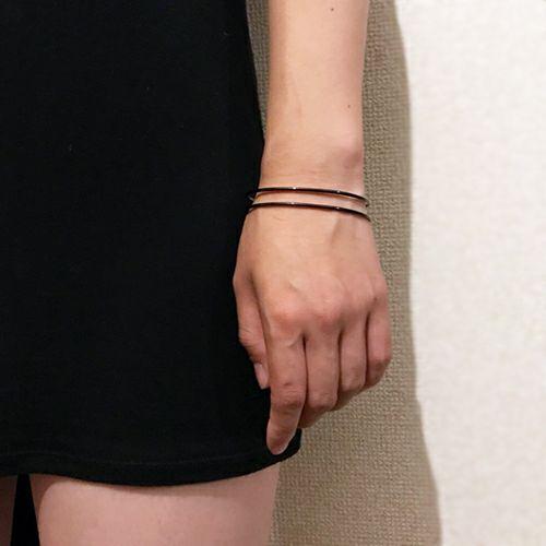 ブレスレット / セーフティピンバングル -BLACK- メンズ レディース ペア シルバー 925 ブランド 人気 おすすめ シンプル 細め ダイヤモンド ギフト プレゼント