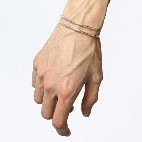 ブレスレット / セーフティピンバングル -SILVER- メンズ レディース ペア シルバー 925 ブランド 人気 おすすめ シンプル 細め ダイヤモンド ギフト プレゼント