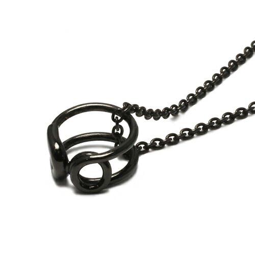 【ジャムホームメイド(JAMHOMEMADE)】安全ピン (セーフティピン) ネックレス - ブラック