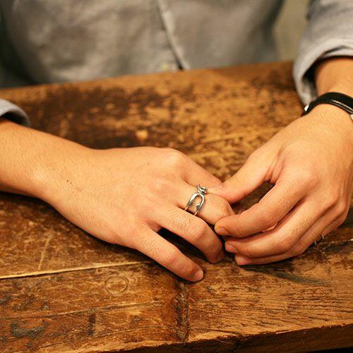 【JAM HOME MADE(ジャムホームメイド)】セーフティピンリング M -SILVER- / 指輪 メンズ シルバー ダイヤモンド 人気 おすすめ ブランド ギフト プレゼント クリスマス オリジナル 安全ピン アクセサリー