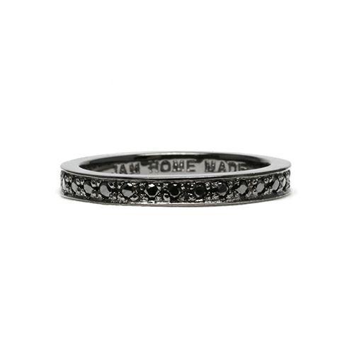【ジャムホームメイド(JAMHOMEMADE)】フラット ダイヤモンド リング スター M - ブラック / 指輪