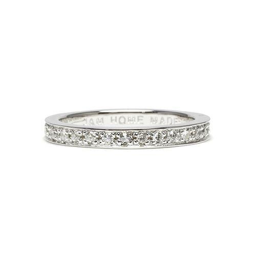 フラットダイヤモンドリングスター M -SILVER- / 指輪