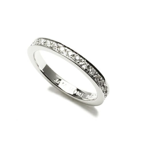 【JAM HOME MADE(ジャムホームメイド)】フラットダイヤモンドリングスター M -SILVER- / 指輪 メンズ レディース シルバー ダイヤモンド 平打ち ペア 人気 おすすめ ブランド ギフト プレゼント クリスマス 記念日 誕生日