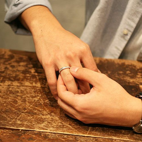 【ジャムホームメイド(JAMHOMEMADE)】フラット ダイヤモンド リング スター M - シルバー / 指輪
