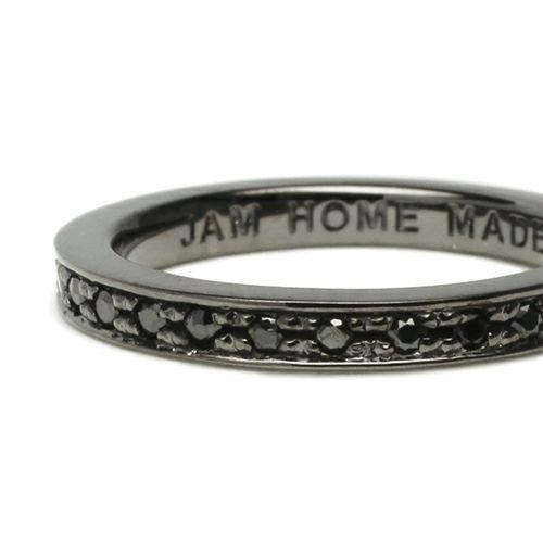 【ジャムホームメイド(JAMHOMEMADE)】フラット ダイヤモンド リング スター S - ブラック / 指輪