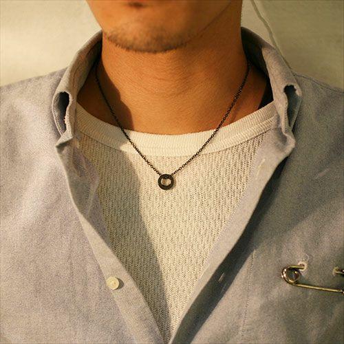 【JAM HOME MADE(ジャムホームメイド)】平打ちダイヤモンドネックレススター -BLACK- メンズ レディース ペア シルバー 925 人気 ブランド おすすめ ギフト プレゼント 誕生日 シンプル