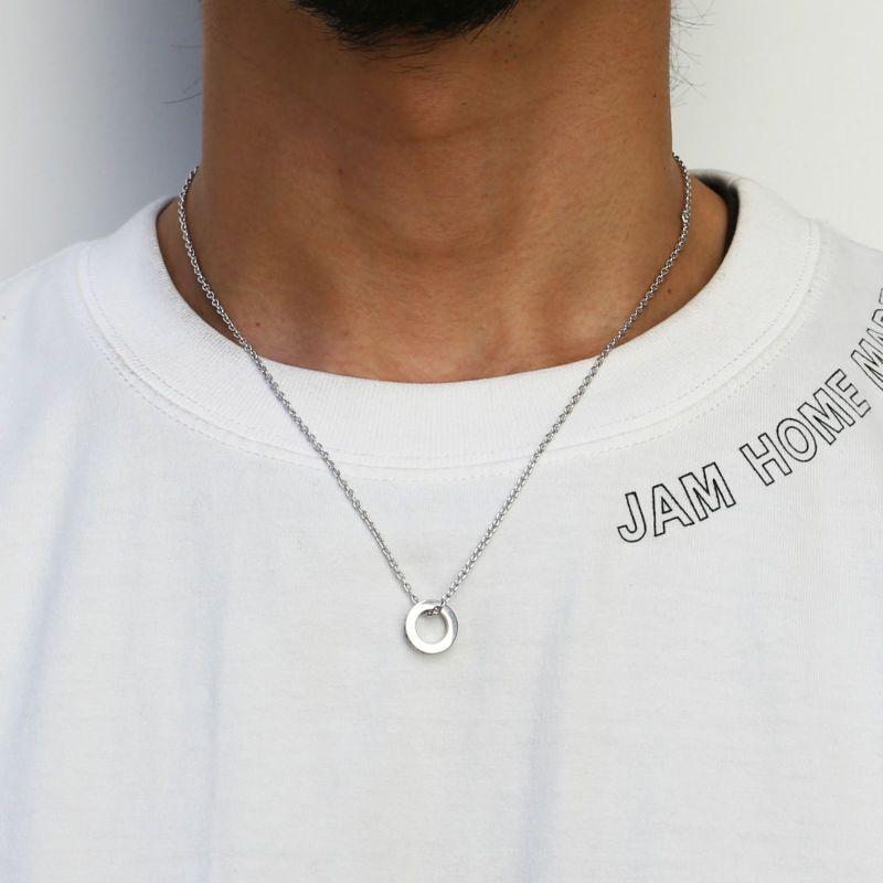 ネックレス / 平打ちダイヤモンドネックレススター -SILVER- メンズ レディース ペア シルバー 925 人気 ブランド おすすめ ギフト プレゼント 誕生日 シンプル