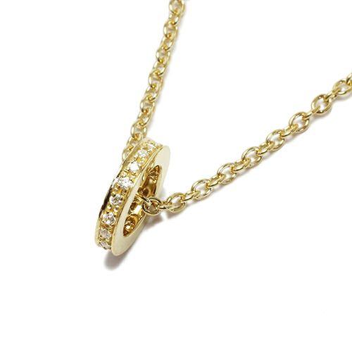 平打ちダイヤモンドネックレススター -GOLD-