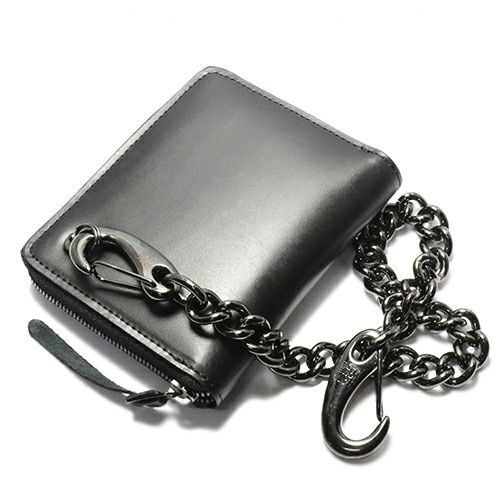 財布キーチェーン / マガタマクラシックウォレットチェーン -BLACK- メンズ ブランド 人気 財布 チェーン シンプル パンク ロック ストリート ブラック