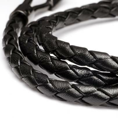 編み込み3巻ブレスレット -BLACK-