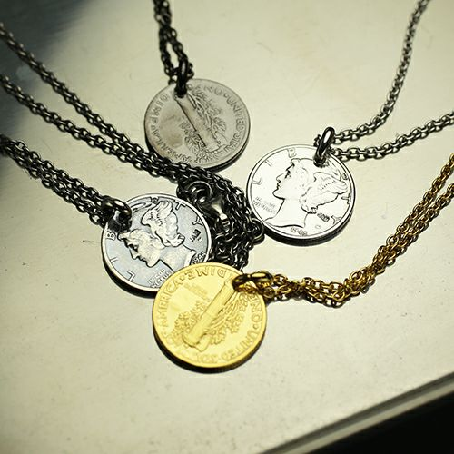 マーキュリーコインネックレス -GOLD-
