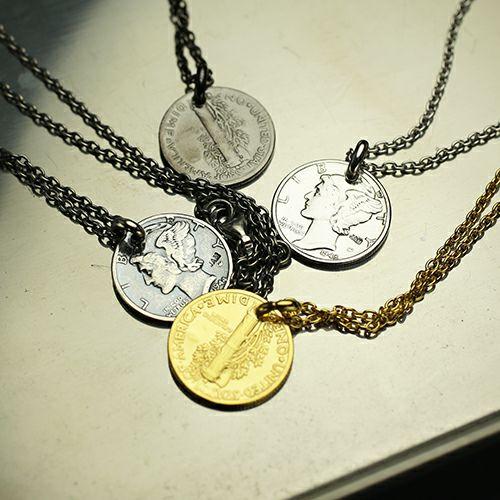 ネックレス / ヴィンテージ マーキュリーコインネックレス -SILVER- メンズ レディース ペア シルバー 925 人気 ブランド おすすめ ギフト プレゼント 誕生日 シンプル コイン 硬貨 本物