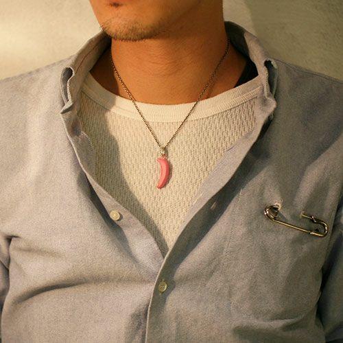 【JAM HOME MADE(ジャムホームメイド)】そんなバナナネックレス M -PINK- メンズ ペア シルバー 925 人気 ブランド おすすめ ギフト プレゼント 誕生日 シンプル アンディウォーホル
