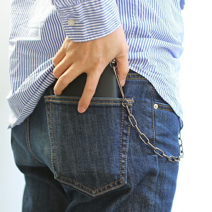 財布キーチェーン / セーフティピンウォレットチェーン -BLACK- メンズ ブランド 人気 財布 チェーン シンプル パンク ロック ストリート ブラック