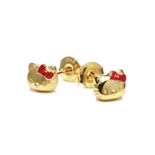【JAM HOME MADE(ジャムホームメイド)】ハローキティ/Hello Kitty フェイスピアス レディース ゴールド 両耳 シンプル 人気 おすすめ ブランド プレゼント 誕生日 ギフト コラボ サンリオ